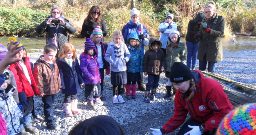 Learning at Goldstream Provincial Park