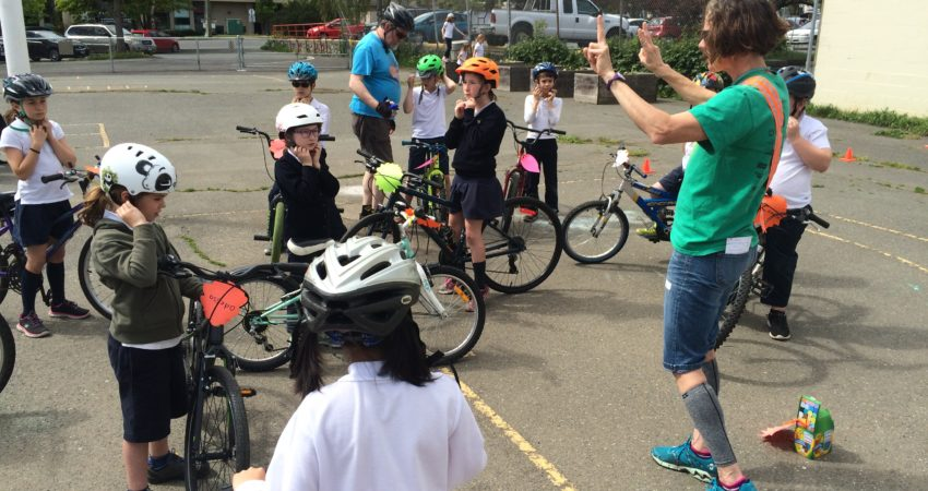 Bike Skills Course thanks to Active and Safe Routes to School Program