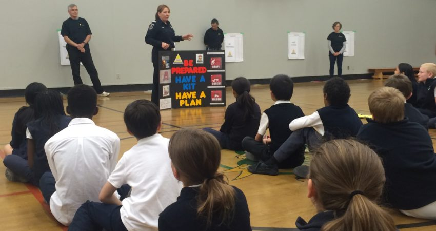 Saanich Emergency Preparedness Course for Grade 4 students